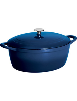 Tramontina 7 Quart Gourmet Cast Iron Covered Oval Dutch Oven by Tramontina Gourmet