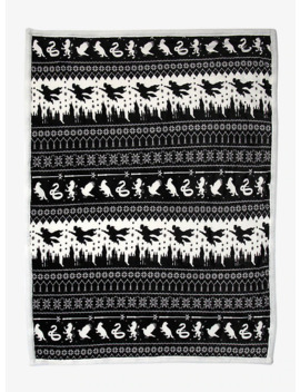 Harry Potter Fair Isle Sherpa Throw Blanket by Hot Topic