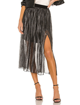 Timeless Pleated Midi Skirt In Black Sparkle by Sanctuary