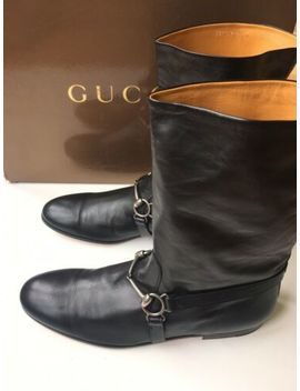 Gucci Mens Black Leather Horsebit Harness Riding Boots, 10 Uk (10.5 Us) $1150 * by Ebay Seller