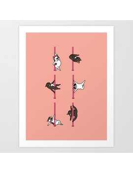 French Bulldog Pole Dancing Club Art Print by Society6