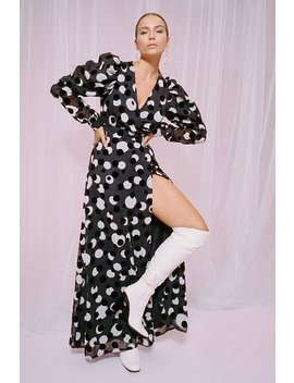 Wanna Dance Baby Polka Dot Maxi Dress by Nasty Gal