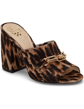 Leopard Print Genuine Calf Hair Slide Sandal by Vince Camuto