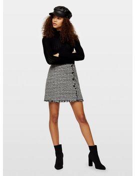 Petite Black Pointelle Knitted Jumper by Miss Selfridge