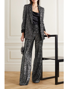 Jace Sequined Silk Satin Blazer by Alice + Olivia