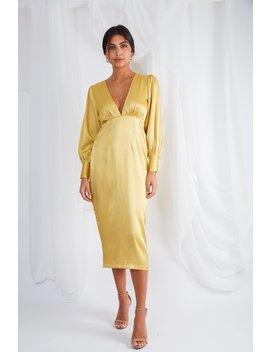 Tatum Plunge Midi Dress by Pretty Lavish