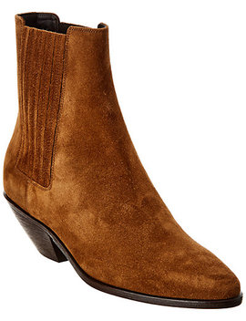 Saint Laurent West 45 Suede Boot by Saint Laurent