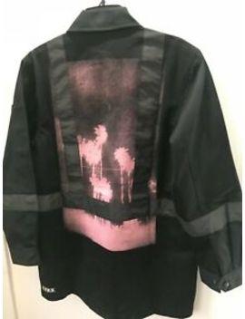 New Men's U.P.W.W. Utility Jacket, With Pink Palm Tree Print,Small Oversized Fit by U.P.W.W.