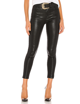 Mile High Ankle Skinny In Black Serpent Foil by Levi's