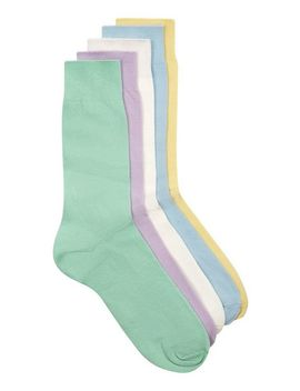 Assorted Colour Pastel Socks 5 Pack by Topman