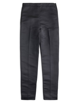 Satin High Rise Cigarette Pants by J.Crew
