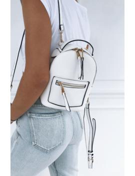 Zoe Mini Backpack White by White Fox