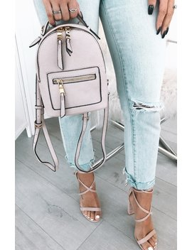 Zoe Mini Backpack Nude by White Fox