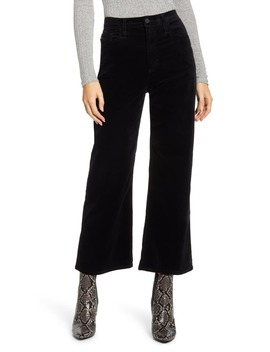 The Etta High Waist Velvet Crop Wide Leg Pants by Ag