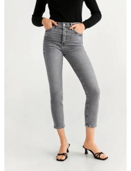 Jeans Med Høyt Liv Slim by Mango