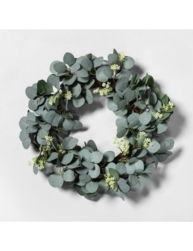 Eucalyptus With Seeds Faux Wreath   Hearth & Hand™ With Magnolia by Hearth & Hand With Magnolia