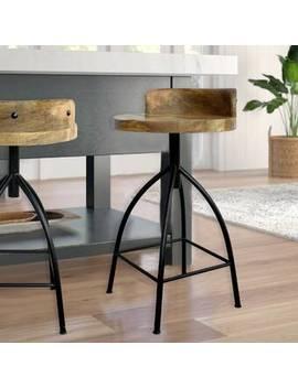 Molinaro Adjustable Height Bar Stool by Williston Forge