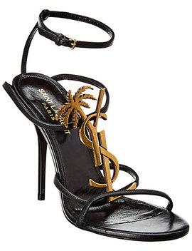 Saint Laurent Cassandra 100 Leather Sandal by Saint Laurent