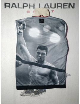 Rare Adidas Muhammad Ali Print Winter Heavy Track Jacket by Adidas  ×  Rare  ×  Muhammad Ali  ×