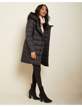 Long Puffer Coat With Wide Hood by Rw & Co