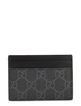 Gg Supreme King Snake Canvas Card Case by Gucci