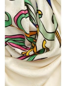 Print Logo Jacquard Traveler Wool & Silk Scarf by Tory Burch