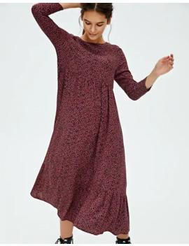 Vestido Midi Print Contraste by Pull & Bear