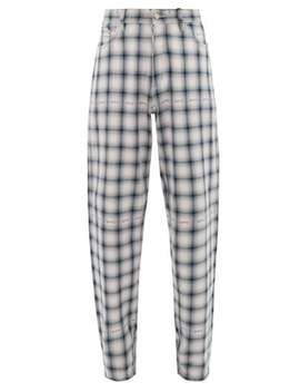 Benz Tartan Cotton Trousers by Eytys