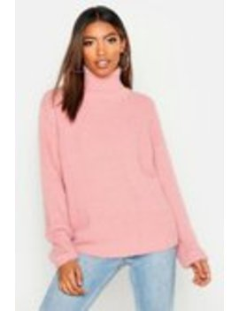 Soft Knit Roll Neck Jumper Soft Knit Roll Neck Jumper by Boohoo