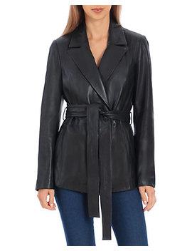 Badgley Mischka Leather Wrap Blazer by Badgley Mischka