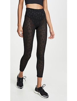 Perforated Sheer Star Leggings by Adam Selman Sport