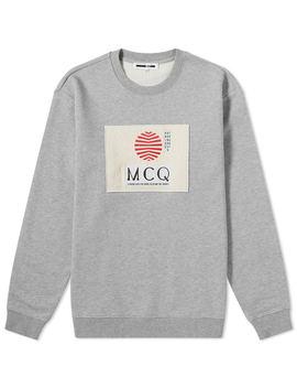 Mc Q Alexander Mc Queen Box Sun Logo Crew Sweat by Mc Q Alexander Mc Queen