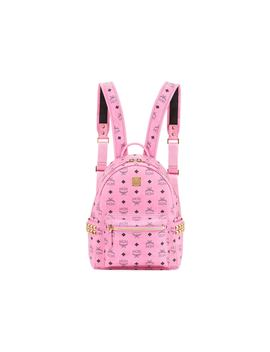 Mcm Stark Backpack Visetos Side Studs Small Pink by Stock X