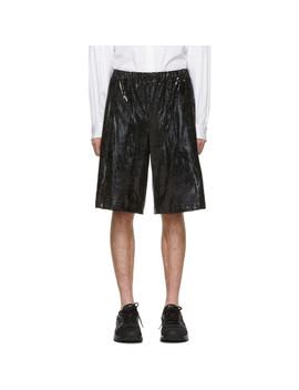 Black Foil Jersey Shorts by Comme Des GarÇons Homme Plus