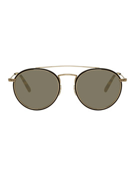 Gold Ellice Sunglasses by Oliver Peoples