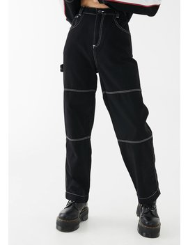 Contrast Stitch Combat Trousers by Kickers