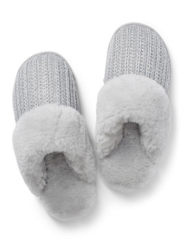 Shimmery Accent Mule Slippers by Miiyu                             Lingerie & Loungewear