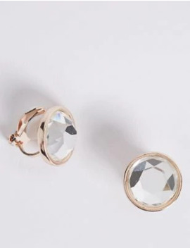 Stone Clip On Stud Earrings by Marks & Spencer