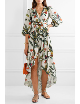 Belted Layered Printed Voile Playsuit by Pat Bo