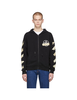 Black Tape Arrows Zip Up Hoodie by Off White