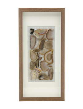 10x20 Natural Agate Decor Matted In Wooden Frame by Tj Maxx