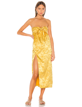 Lucia Dress In Golden Yellow by Camila Coelho