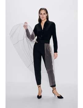 Pantalon Avec Tulle by Zara