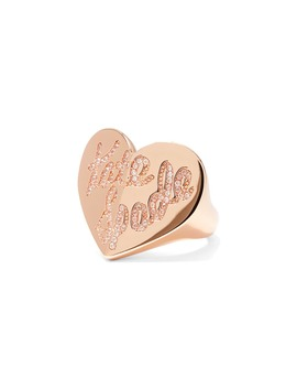 Heritage Spade Pavé Script Heart Ring by Kate Spade New York