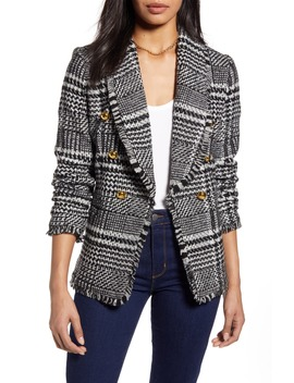 Double Breasted Plaid Tweed Blazer by Halogen®