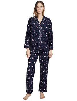 Let's Flamingo Flannel Pj Set by Pj Salvage