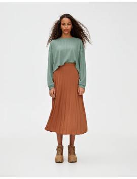 Sweater Curta Com Rendilhado by Pull & Bear