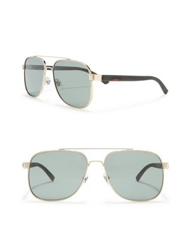 60mm Rectangle Sunglasses by Gucci