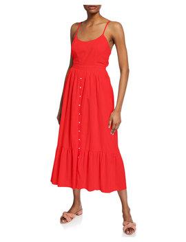 Lena Sleeveless Tie Back Midi Cotton Dress by Xirena