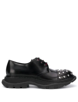 Crystal Toe Lace Up Shoes by Alexander Mc Queen